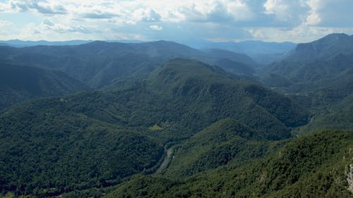 The View Of The Mountain Ranges From Above