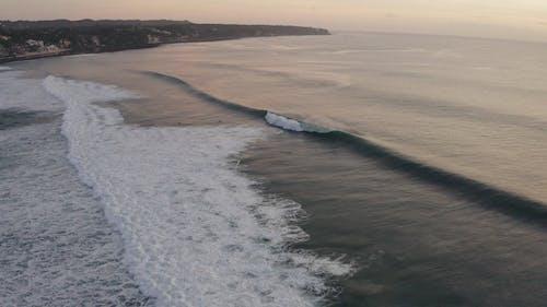 Waves Breaking In The Shoreline