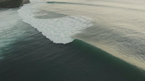 Drone Footage of Beach Waves