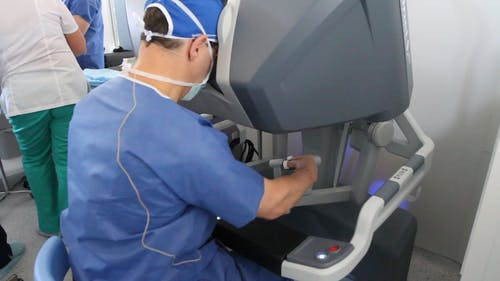 Person Operating a Medical Equipement