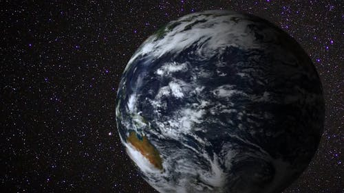 A Video Footage of Earth and Sun