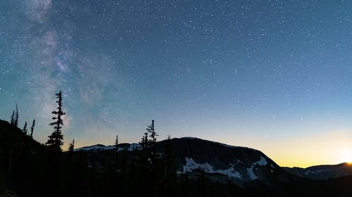 Time Lapse Footage of  a Starry Night
