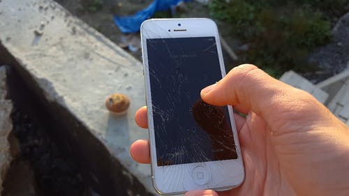 Person Using His Phone Camera