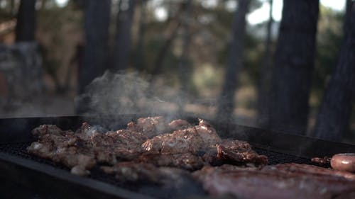 Grilling Food on the Outdoor