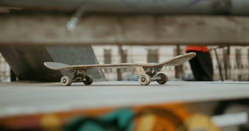 Skateboard Left in Skatepark