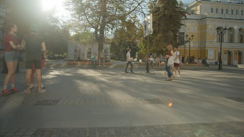 Video Of Different Kinds Of People In The Street During Daytime