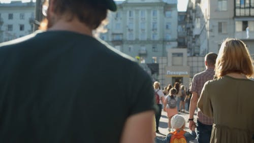 Video Of Different Kinds Of People Walking In The Street During Daytime