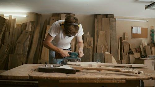 Masked Professional Smoothing Guitar Wood