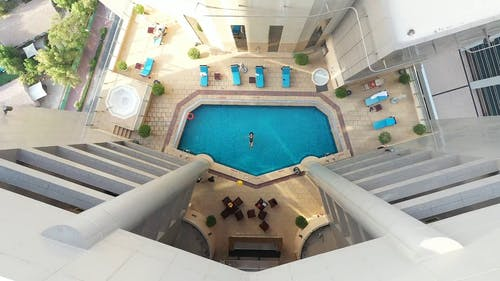 Drone Footage Of Swimming Pool