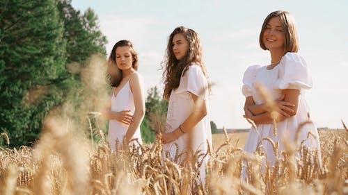 Beautiful Women in the Field