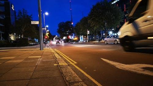 Low Angle Shot of London Night Traffic
