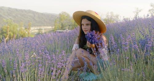 Beautiful Teenage Girl at Lavender Farm