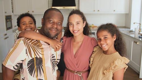 Family Posing to the Camera