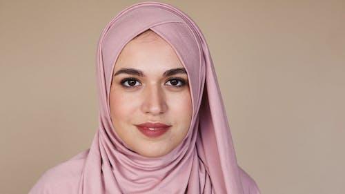 Woman in Pink Hijab Smiling