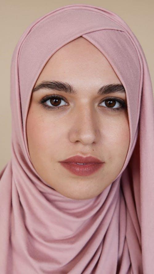 Beautiful Muslim Women in Pink Hijab