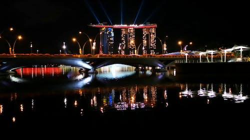 The Marina Bay Sands Building at Night