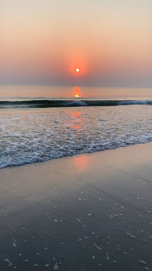 View of Sunset from the Beach