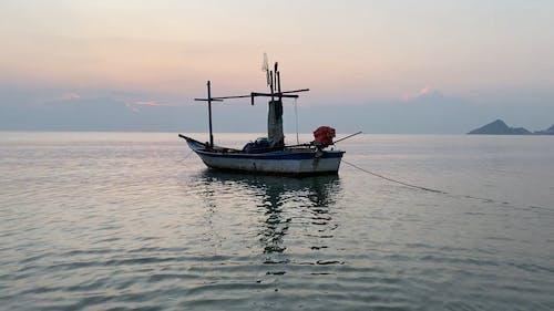 Boat Anchored in the Sea