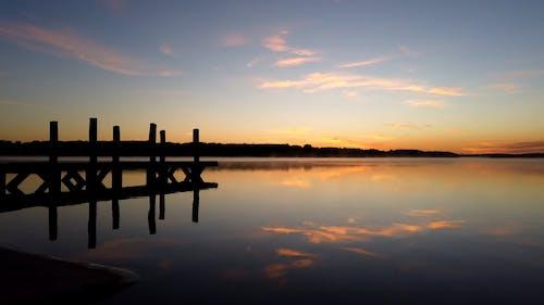 Time-Lapse Video of Placid Lake During Sunrise