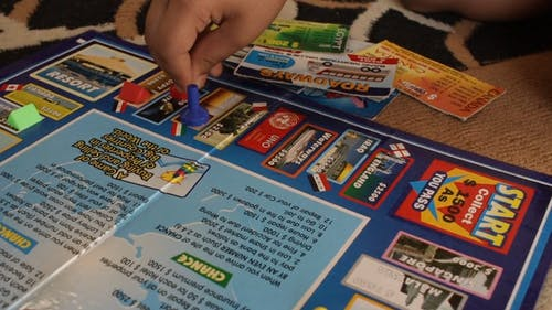 Moving The Marker In A Board Game Of Monopoly