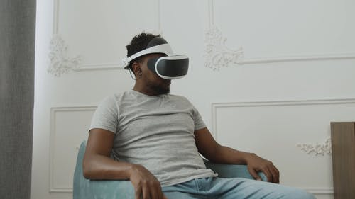 Young Guy with VR Headset