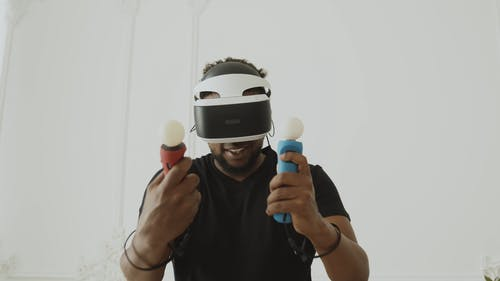 Guy Playing with PSVR2