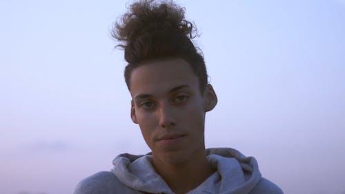 Teenage Guy Looking at camera