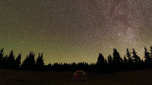 Breathtaking Time Lapse View of Meteor Shower