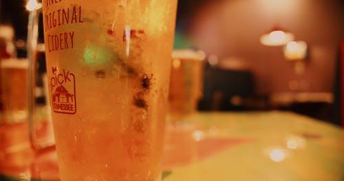 Close Up of Cider Drink at Bar