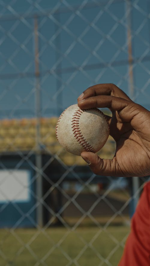 Person Holding a Baseball