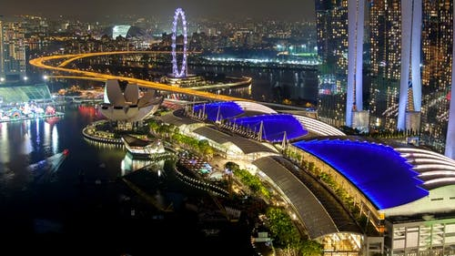 The Marina Bay Sands In Singapore At Night