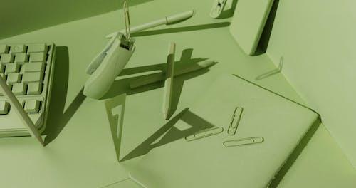 Un Concepto De Objetos Verdes Flotando En El Aire