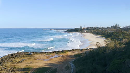 The Big Waves Of Shelly Beach In New South Wales Australia