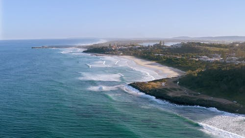 Drone Footage Of The Shelley Beach In New South Wales
