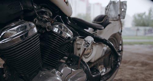 A Man Mounting His Motor Bike