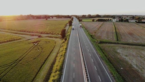 A Highway Built Across Farm Lands