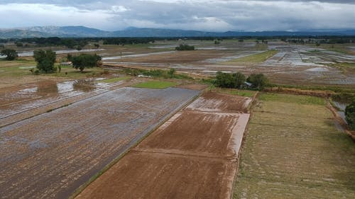 Drone Video of a Fields Ready to be Cultivated