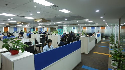 The Interior Design Of A Call Center Office In India