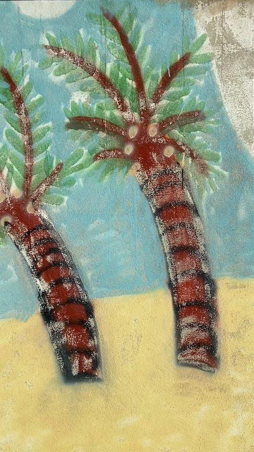 Happy Beach Wall Painting