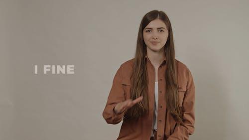 Woman Doing Sign Language