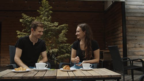Two Couple Having Conversation Through Sign Language