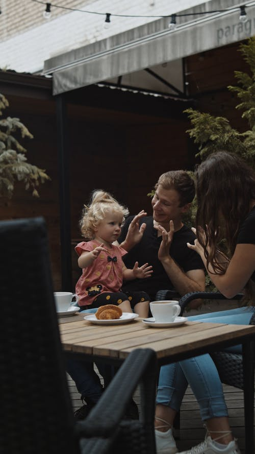 A Family Communicating Using American Sign Language