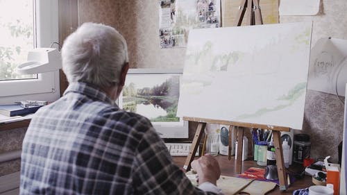 An Artist making Painting