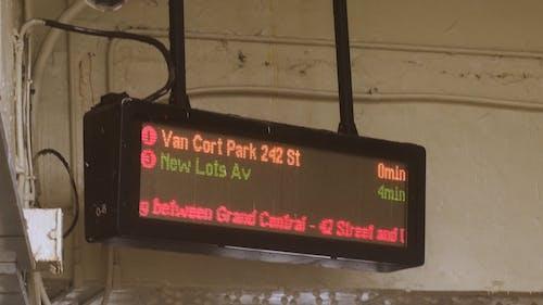 Monitor Board In Der U Bahn