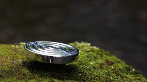 Focused Video of a Rotating Metal Spinner