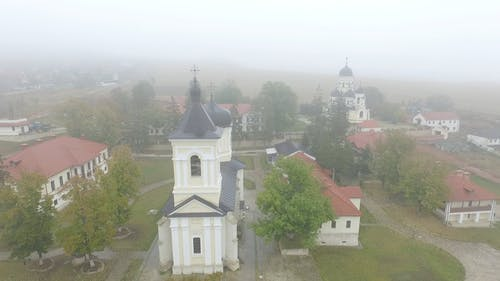 Aerial View of Beautiful Ancient Church