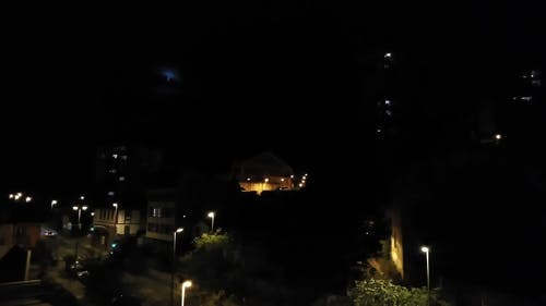 Video Footage Of A Place At Night