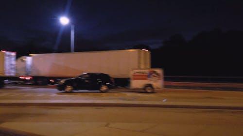 Transportation Trucks Parked at the Expressway