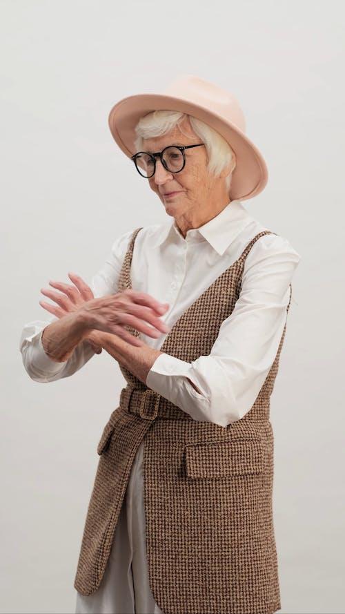 Fashion Photo Shoot of an Aged Woman