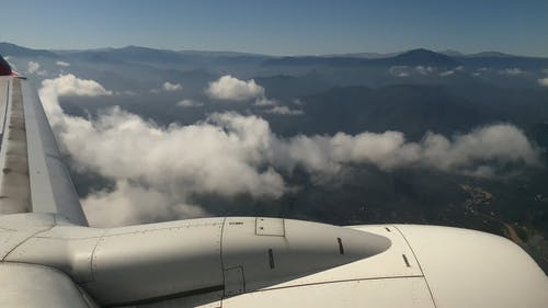 Mountain View from a Plane Window